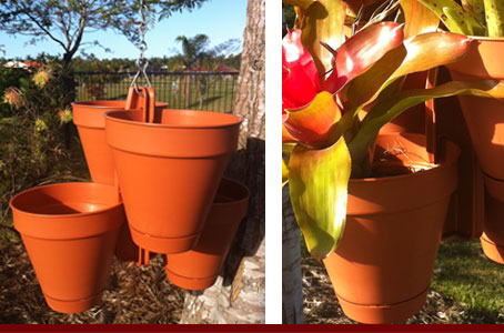 Hang 4 Flower Pots